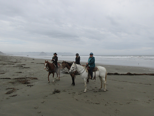 beach riding, Cayucos