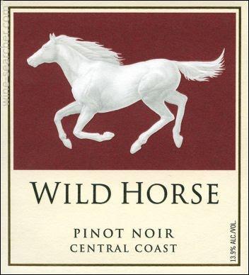 """Wild Horse"" pinot noir wine"