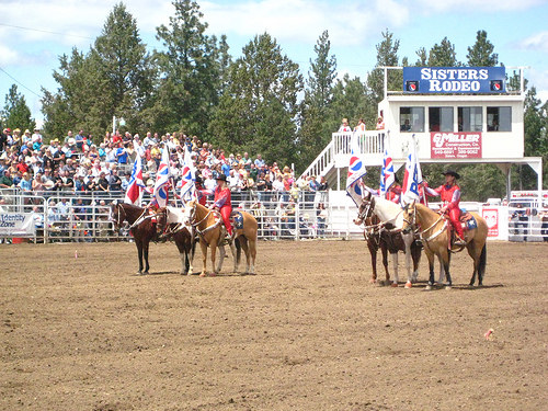 """Sisters, Oregon rodeo"" cowgirls"