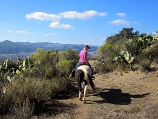 trail ride, Madonna Inn, central California