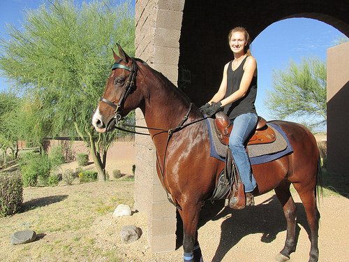 Sierra riding Naturally Numaa in Scottsdale. Photo © 2014 Nancy D. Brown