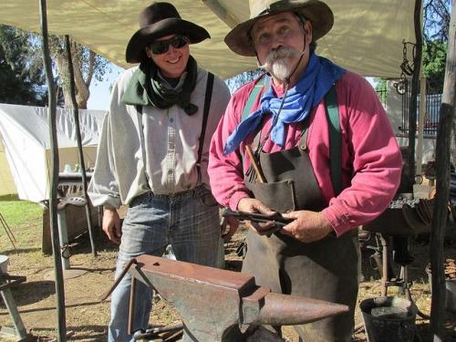 blacksmith, Santa Clarita Cowboy Festival, California