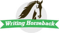 Writing Horseback Retina Logo