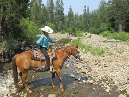 Nancy Brown, Lake Tahoe, horseback riding