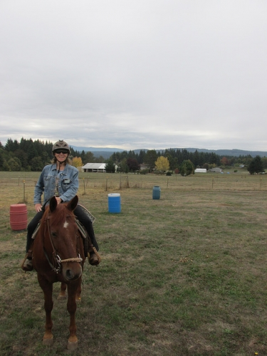 Nancy Brown, horseback riding, hip replacement
