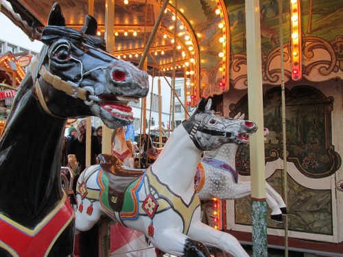 heidelberg, carousel, horse, germany