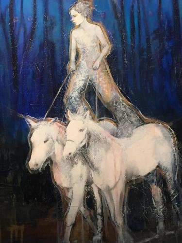 joan dumouchel, horses, cavalia, odysseo, art