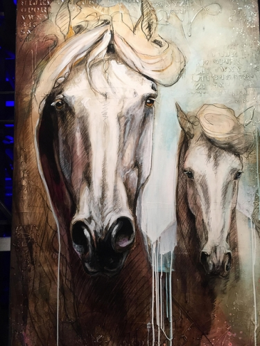 lea riviere, horse, cavalia, odysseo, art