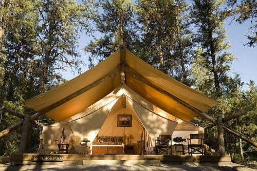 glamping, luxury tent, resort at paws up