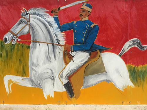 general gregorio luperon, puerto plata, cas museo gregorio luperon, mural, horse