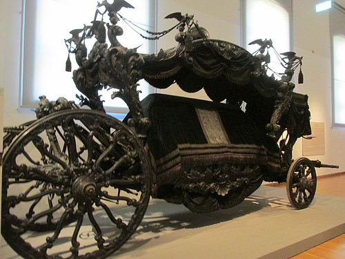 hearse, imperial carriage museum, funeral coach, schonbrunn palace, vienna, austria