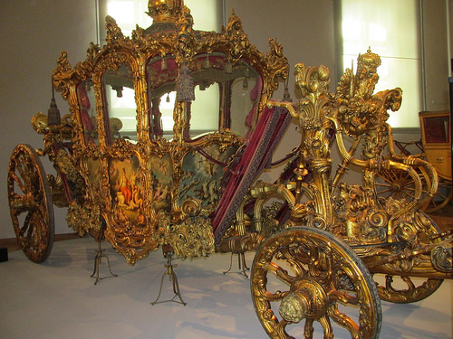 coronation coach, carriage, imperial carriage, imperial carriage museum, vienna, austria