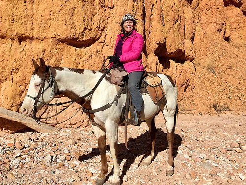 nancy d brown, equestrian travel writer, rubys horseback adventures, red canyon, utah