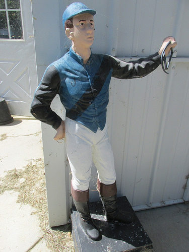 blue barn lawn jockey, camden, south carolina
