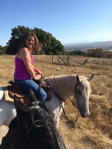 christine shepherd, horseback riding, petaluma, california, trail riding