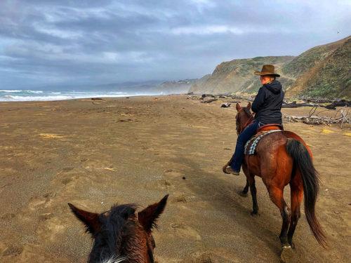 tobi ross, ross ranch, manchester beach, horseback riding, mendocino coast, california